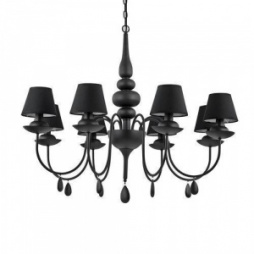Люстра Ideal Lux BLANCHE SP8 NERO 111896