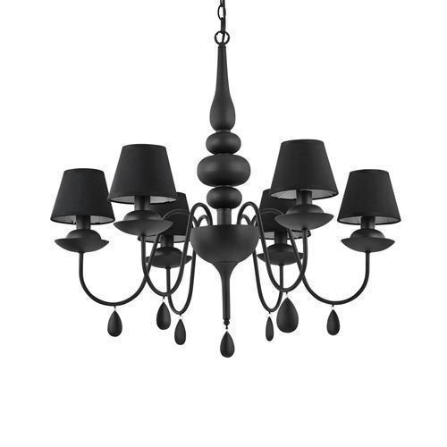 Люстра Ideal Lux BLANCHE SP6 NERO 111872